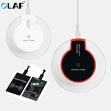 OLAF Qi Wireless Charger Receiver Led Fast Charging For iPhone Xs Max X 7 8 6s Plus Samsung Huawei P20 Pro Lite Wireless Charger