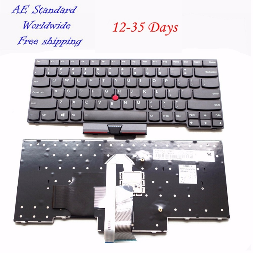 US Black With Mouse Pole New English Laptop Keyboard For Lenovo For IBM For Thinkpad E430 E430C E330 E430S E435 S430 T430U new for lenovo ibm thinkpad p50 p50s series english us laptop keyboard