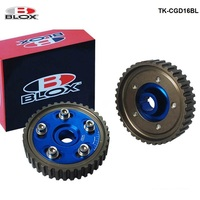 For Honda Civic D15 D16 Sohc 88 00 Inlet and Exhaust 2pcs Adjustable Racing Cam Gear Timing Gear pulley kit TK CGD16BL