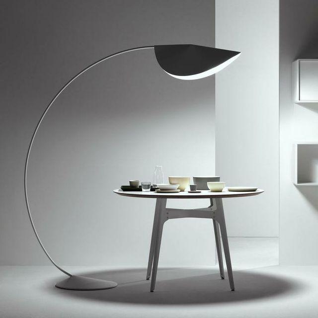 Large Semi Circle Arc Lamp Fishing Floor Ikea Living Room Modern Luxury Villa