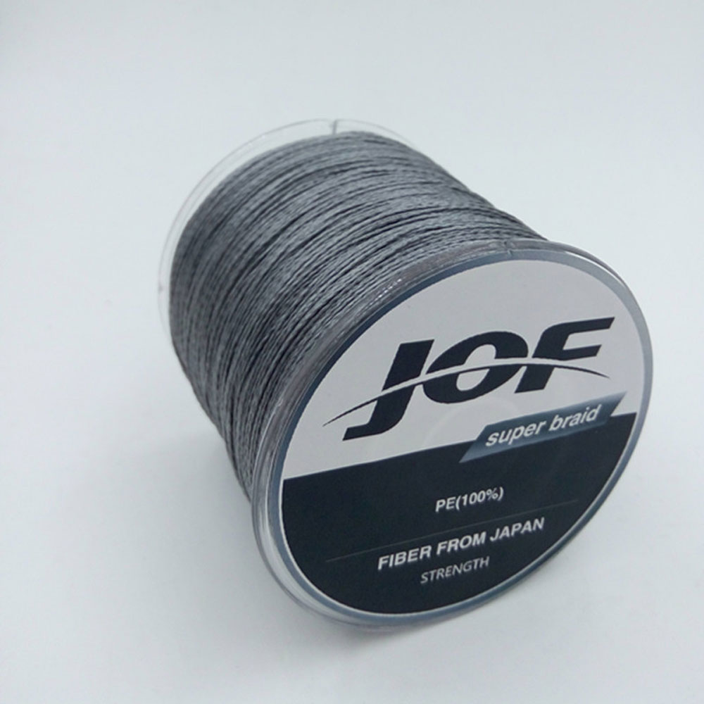 JOF The 300m 4 stands PE Braided Fly Fishing Line 4-100LB To Choice Power PE Braid Fishing WireFishing Accessories 5 colors 300m pe braided fishing line hot sale fishing line 4 stands 6lbs to 80lb multifilament pro angling fishing accessories