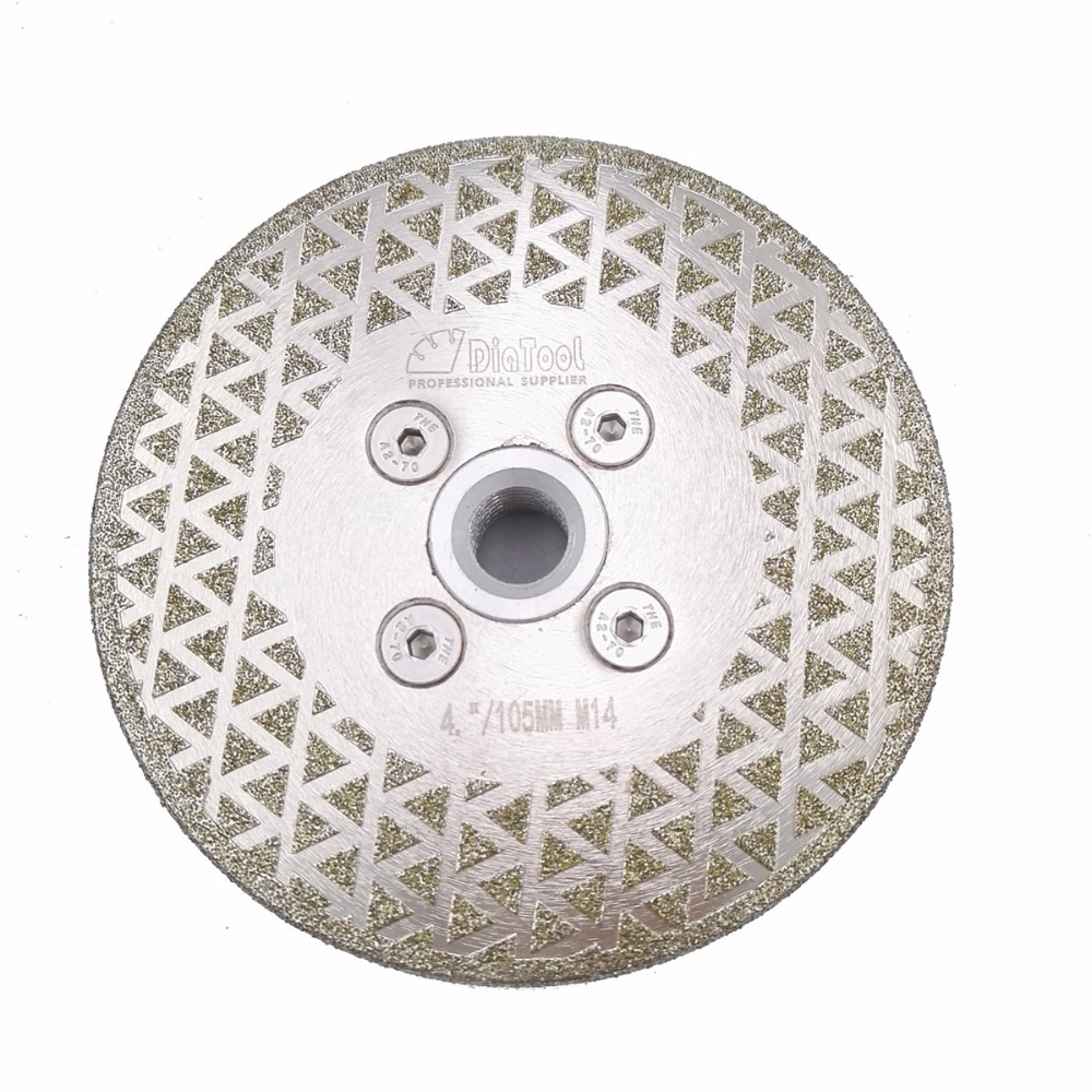 DIATOOL 1 pc Électrolytique diamant de coupe disque de meulage M14 bride Seul côté enduit lame de scie granit marbre 4 4.5 5