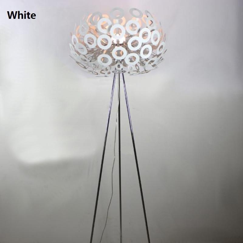 floor lamps white silver stand lights aluminum abajur de chao lambader light for living room bedroom - Silver Floor Lamp