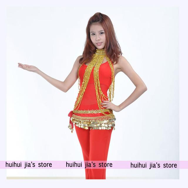 Trajes de dança do ventre de qualidade bonito mais seção de cadeia estilo de Bollywood