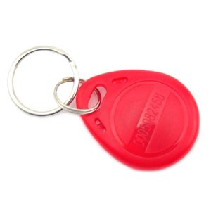 Image 4 - 100 pcs 125khz EM4100 Keychains Wholesale New RFID Proximity ID Card Token Tags Key Keyfobs ( Red )