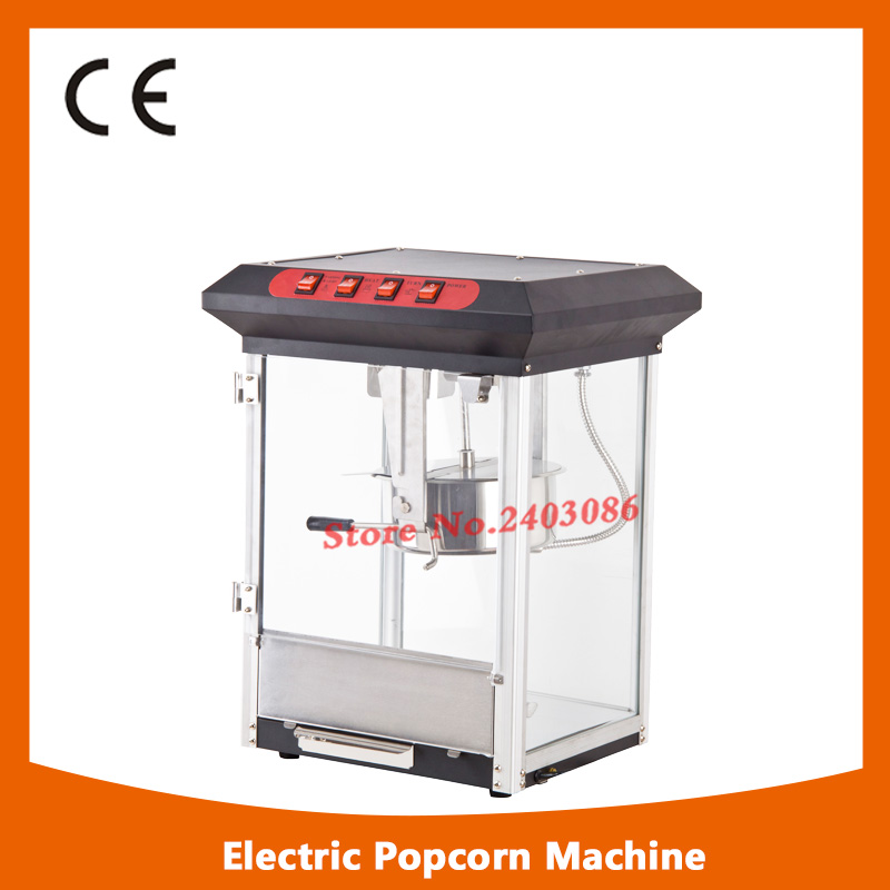high efficiency commercial kitchen equipment automatic 8Oz stainless steel electric popcorn making machine pop 08 commercial electric popcorn machine popcorn maker for coffee shop popcorn making machine