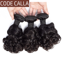 Code Calla Bouncy Curly Brazilian Remy Salon Human Hair Weave Extensions 3 4 Bundles Weft Weave Natural Black 1B Color For Women все цены