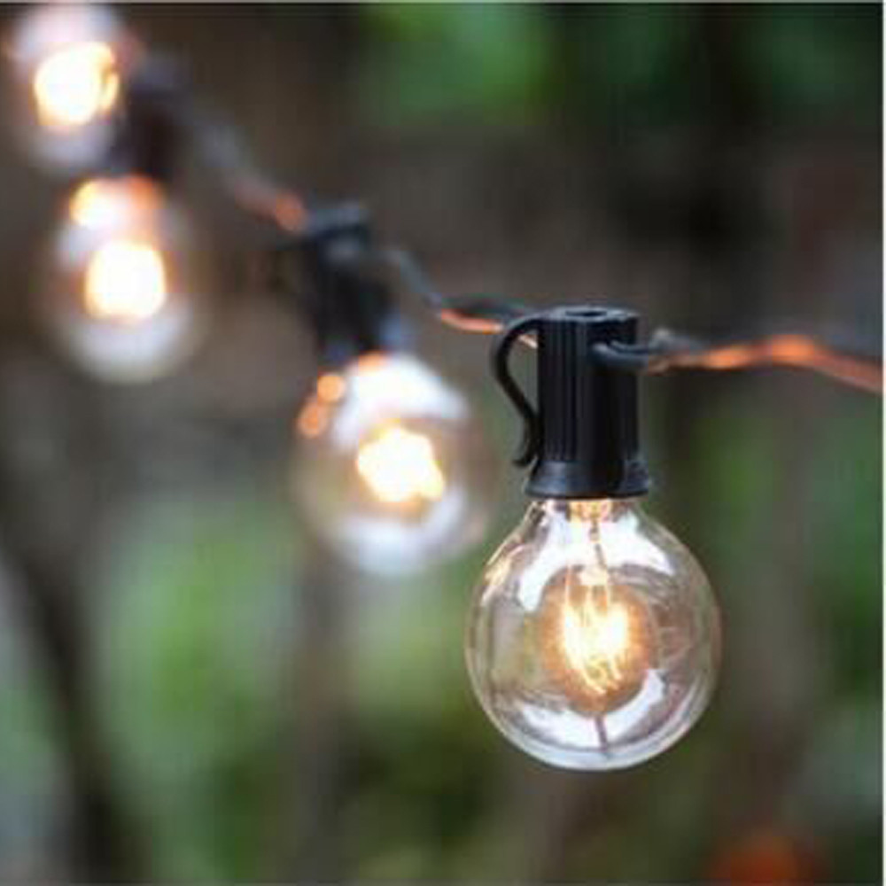 7.65M Outdoor Garden Waterproof LED String Lights 25ft Patio Outside String Lights Fairy Lights For Wedding Party Decoration