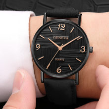 Men Women Leather Strap Line Analog Quartz Ladies Wrist Watches Fashion Watch Mens Sports Watches 2019 Mens Watches Top Brand(China)
