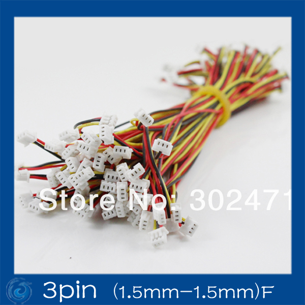 Mini. Micro JST 2.0mm T-1 3-Pin Connector W/.Wire X 10 Sets.3pin (1.5mm-1.5mm)F