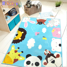 1.3M*1.0M Baby Play Mat Infantil Educational Crawling Mat Baby Room Cartoon Animal Blanket Puzzle Carpet Child Blankets for kids