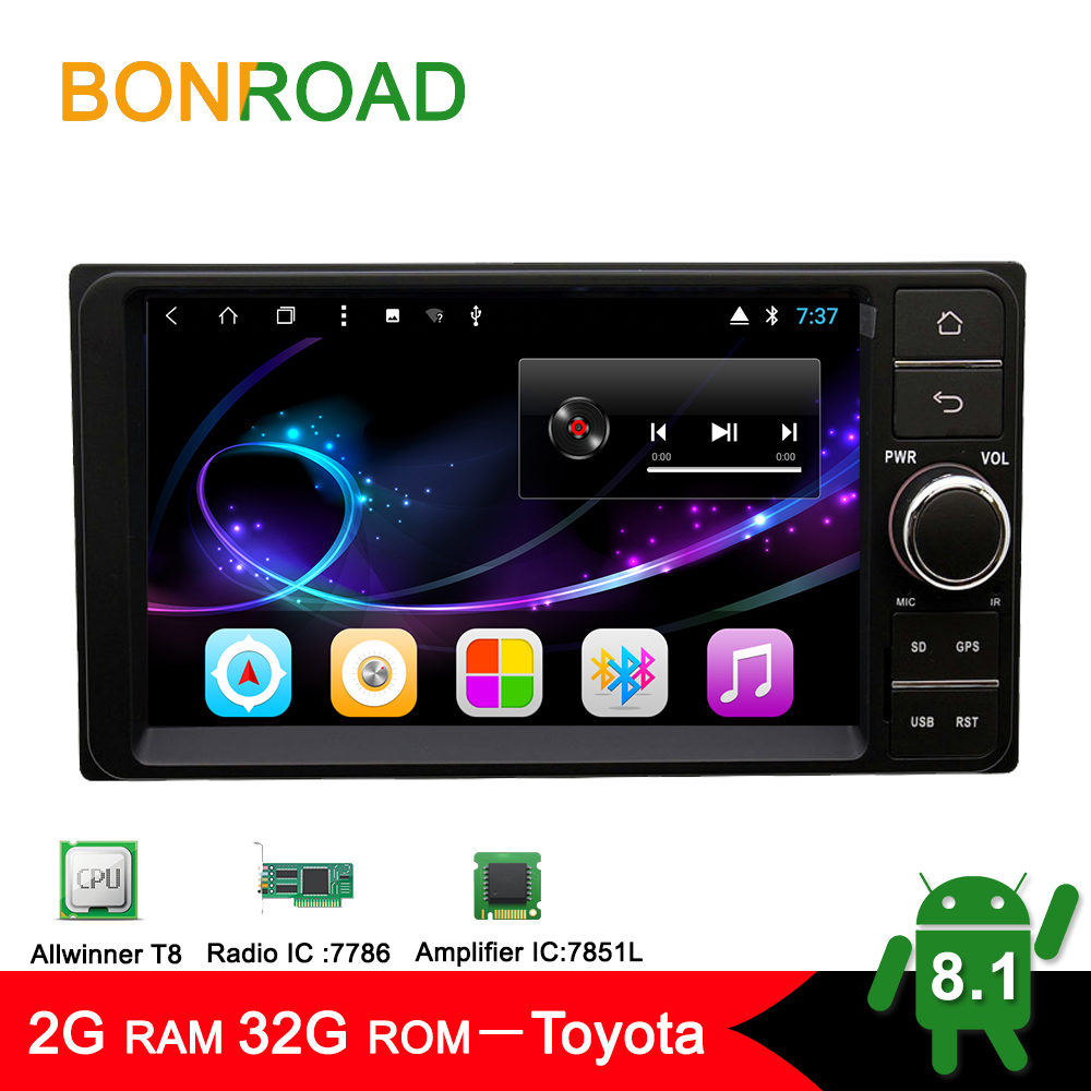 Bonroad 8 Core Android 8 1 0 Ram2G Rom32GB 7inch Car Video Player For Toyota Corolla