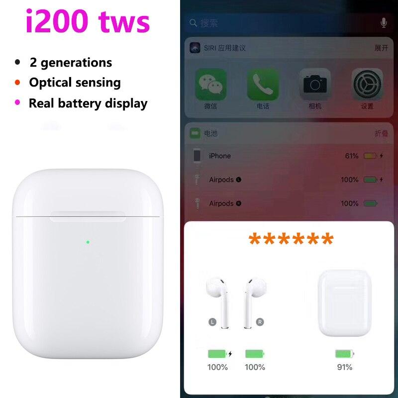 I200 TWS Air 2 Bluetooth écouteurs puce 1:1 taille AP deuxième Gen sans fil écouteurs casque Pop up écouteurs vs i100 i80 i130 tws