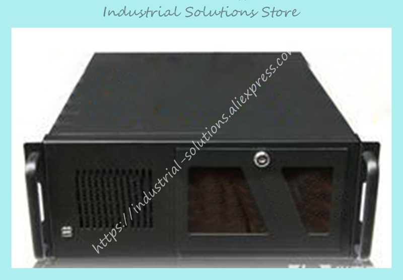 New 4U586B 4U Server Computer Case 6 Hard Drive Rack 1 Rack 580mm Lengthen new ultra short 3u computer case 38cm 8 hard drive pc large panel big power supply 3u server industrial computer case