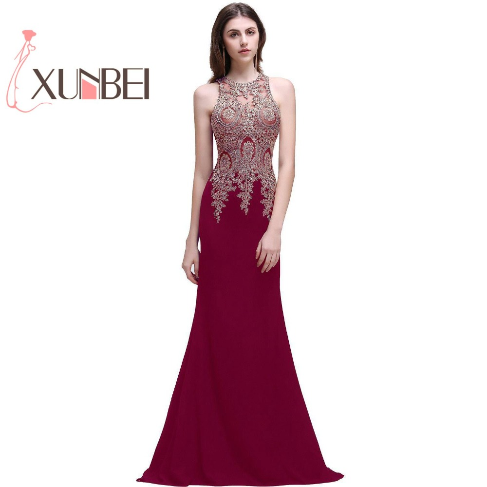 $49.99 Robe de Soiree Longue Mermaid Black   Evening     Dresses   Long 2019 Beaded Halter Prom   Dresses   Sexy See Though Back Party Gown