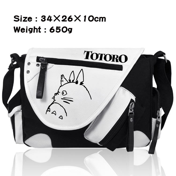 Men Messenger Bags Fashion Unisex Crossbody Bag Shoulder Bag Cartoon Anime My Neighbor Totoro Male School Letter Tote Handbags цены