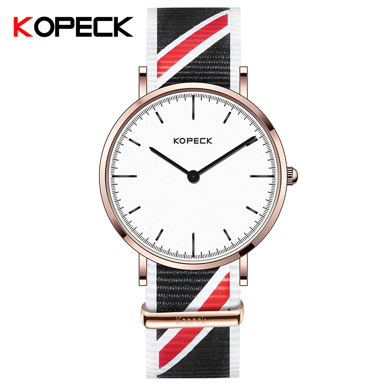 KOPECK Watches Men Luxury Top Brand Fashion Men's Nylon Band Designer Quartz Watch Male Wristwatch Relogio Masculino Relojes leather watches men luxury top brand grady new fashion men s designer quartz watch male wristwatch relogio masculino relojes