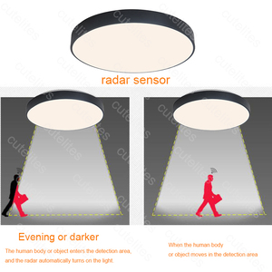 Image 5 - 2019 New High Quality Surface Mounted Motion Sensor/Radar Human induction Acrylic led ceiling lights Fixtures  Dropship