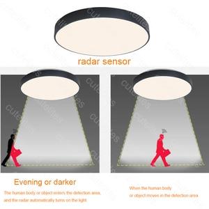 Image 5 - Luminárias de led acrílico para teto, montagem superfície de alta qualidade com sensor de movimento/radar, indução humana, dropship, novo, 2019