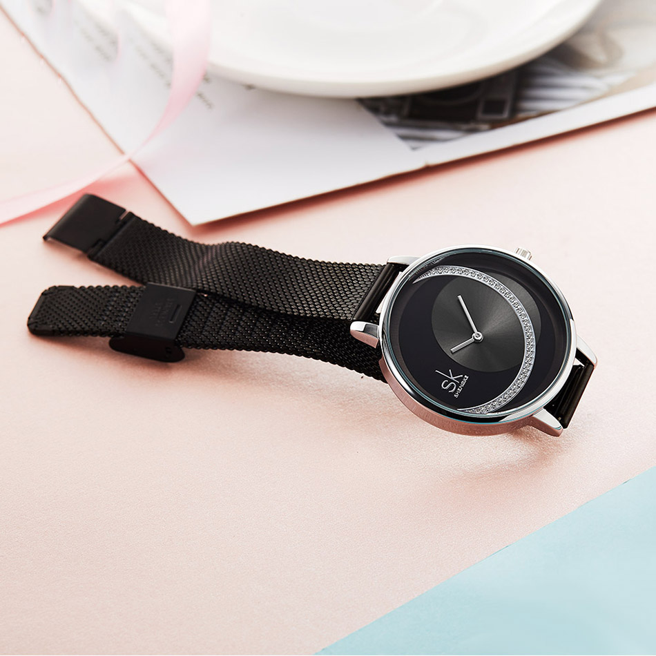 SK Fashion Crystal Women Quartz Watch Creative Ultra Thin Ladies Wrist Watch For Montre Femme Female Clock 2019 relogio feminino (9)
