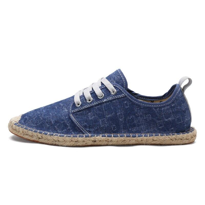 KOZLOV Summer Canvas Shoes Men Plimsolls Designer Espadrilles 2018 Fashion Fisherman Breathable Lace Up Shoes Casual Alpargatas 2