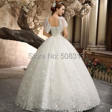 2014 new autumn and winter bandage wedding gowns high waist