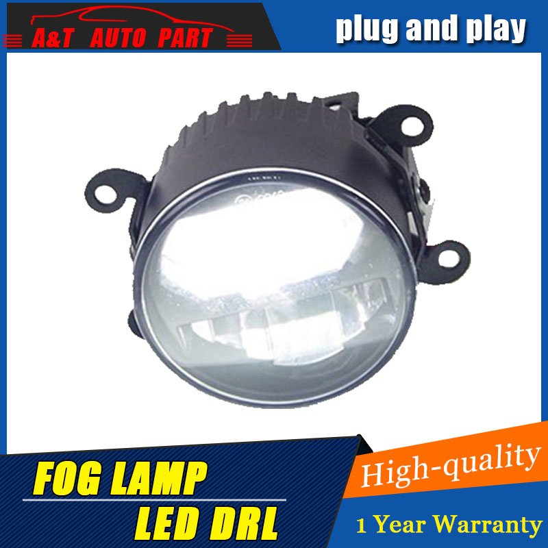 JGRT Car Styling LED Fog Lamp for Ford Fusion DRL Emark Certificate Fog Light High Low Beam white led Projector 2 function jgrt car styling led fog lamp 08 16 for ford tourneo courier led drl daytime running light high low beam automobile accessories