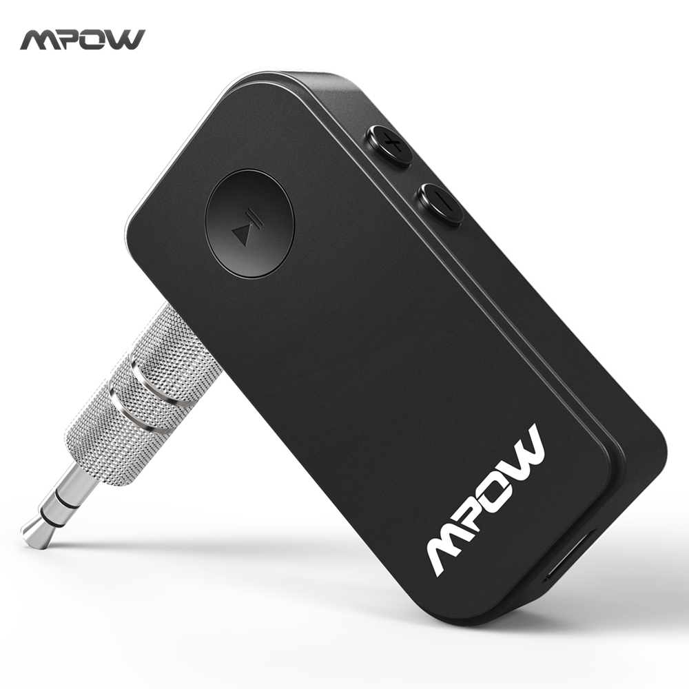 MPOW Upgraded Mini Bluetooth Receiver Adapter A2DP Streambot Hands Free Wireless Car Kits For