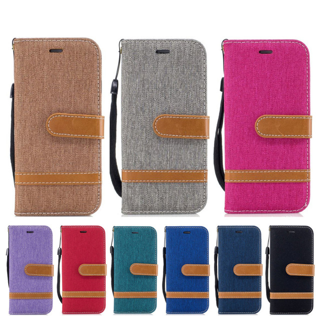 Cowboy Jean PU Wallet Case For <font><b>Huawei</b></font> Honor 8A 8C 7A 7C 7X Mate 20 Pro 10 9 P30 Lite P20 P10 Y7 P Smart 2019 P9 Mini Y9 <font><b>2018</b></font> <font><b>Y5</b></font> image