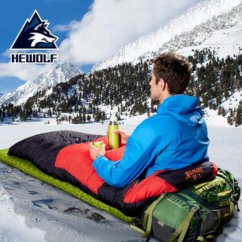 Saco de dormir Hewolf de Camping de invierno de 1500g, saco de...