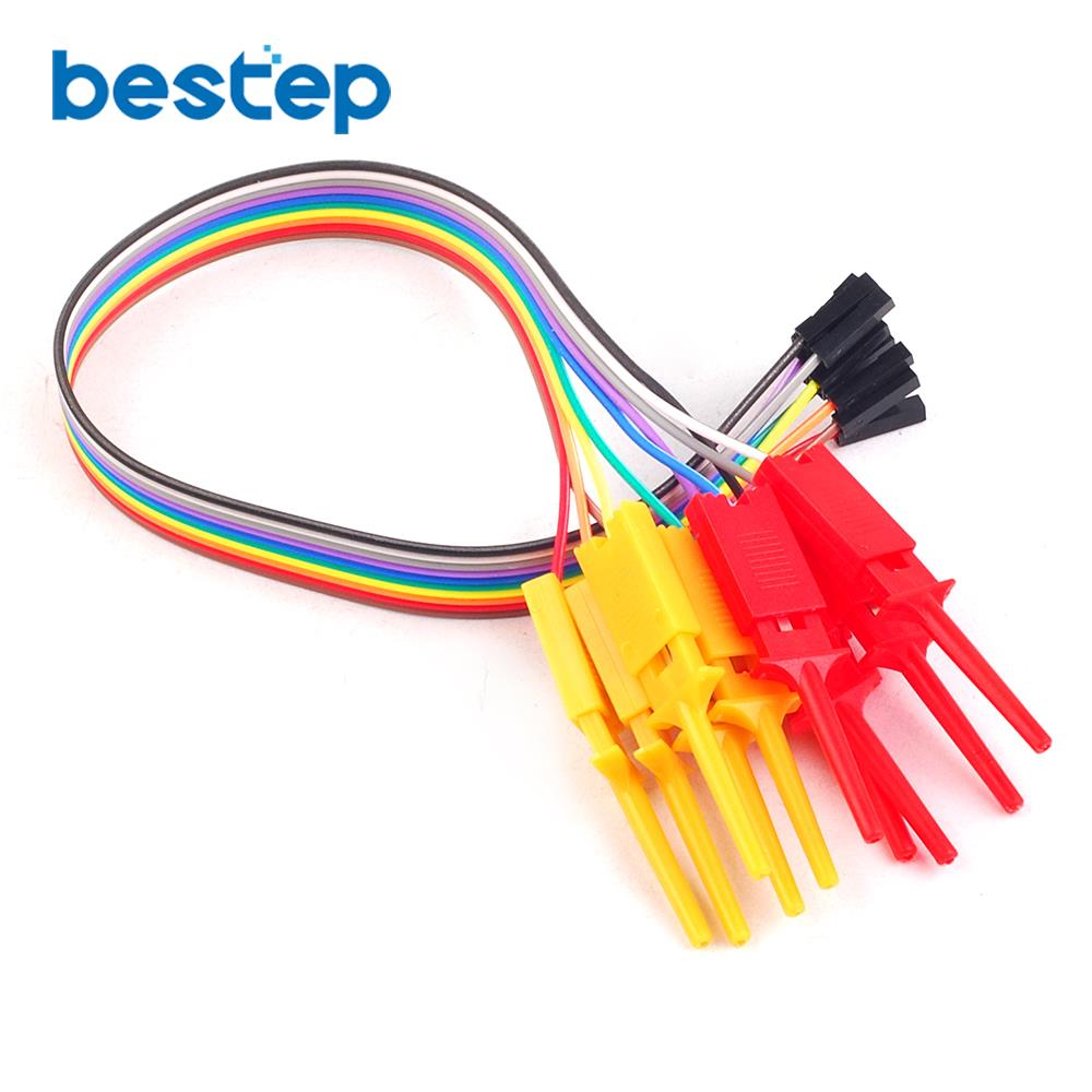 10PCS Quality Test Of The Quality Test Hook Clip. Logic Analyzer Test Folder For USB Saleae 24M 8CH