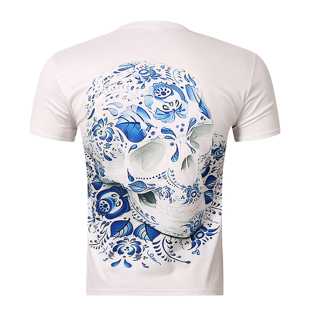 2018 New Unisex Mens t Shirts Fashion Men's Wear 3D Printed Skull t shirt Homme Brand Clothing Funny t shirts Compression
