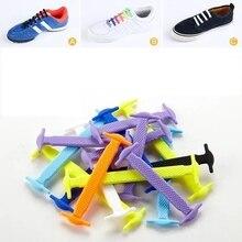 16pcs/lot Elastic No Tie Shoelaces Silicone Shoelace Creative Lazy Laces Rubber