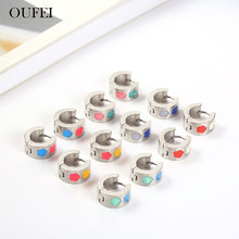 OUFEI Korean Earrings Fashion Jewelry Stainless Steel 2019 Women Earring Summer Accessories Free Shipping wholesale lots bulk