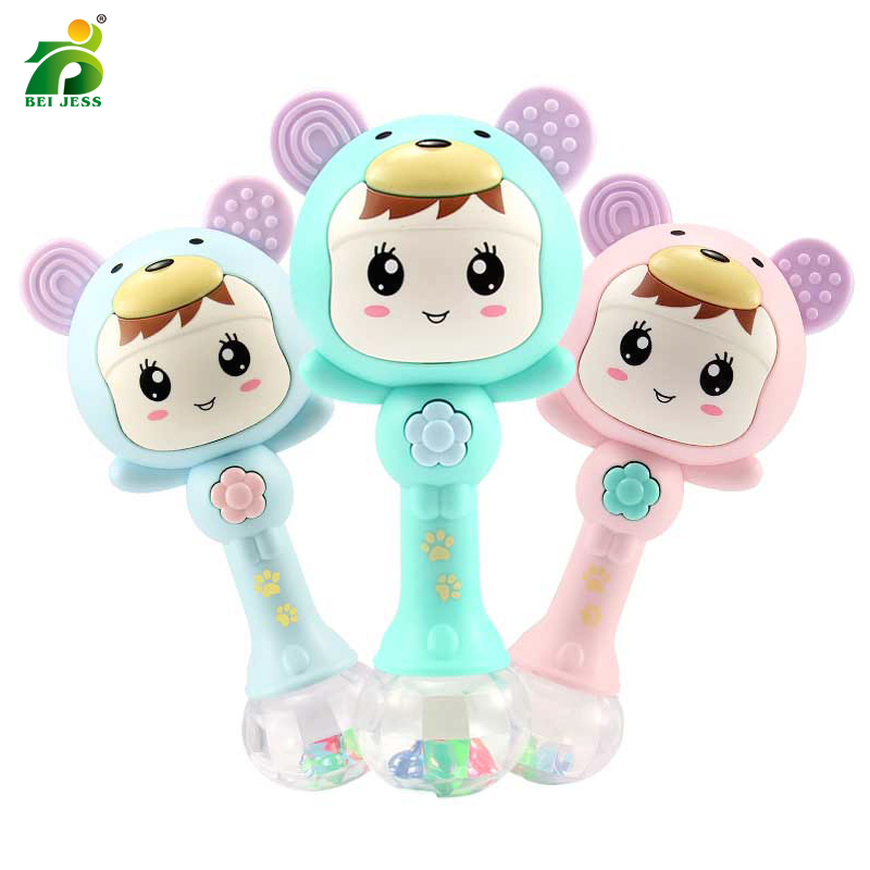 Baby Rattles 0-12 Months Development Music Cute Mobile Baby Hand Shaking Newborn Teething Funny Educational For Kids Toy