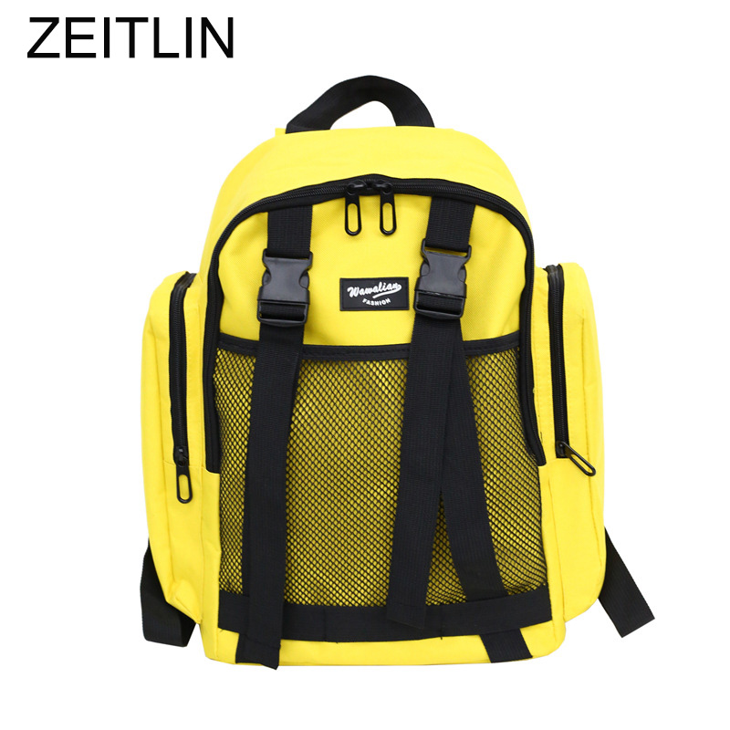 2018 Man Woman Backpacks Nylon Waterproof Patchwork Bags Large Capacity School Bag Student Book Bag Travel Rucksack Mochila T