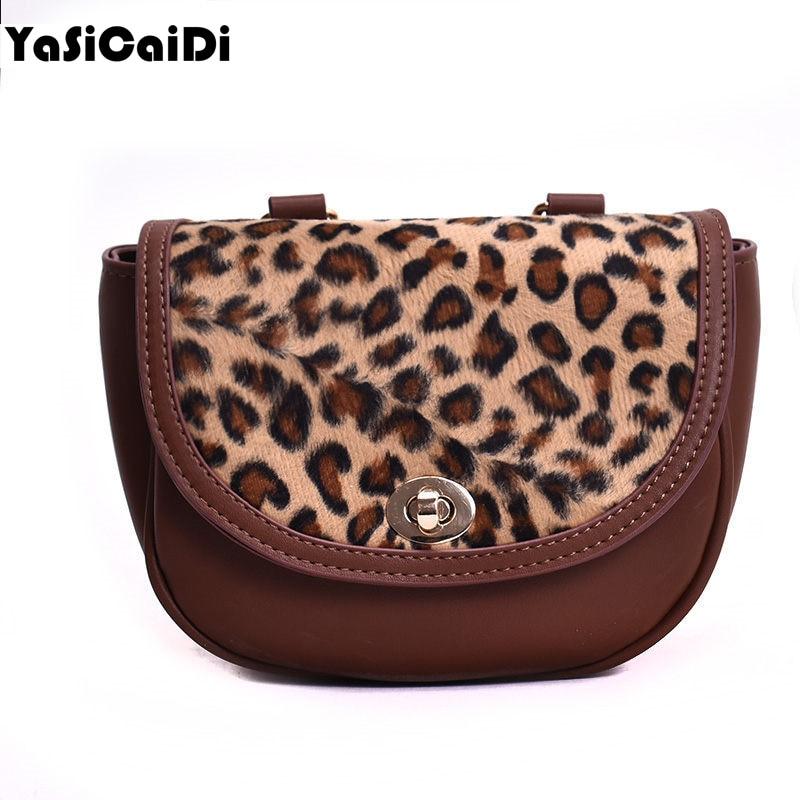 2018 Korean Version The Small Square Women Bag Fashion Leopard print  Handbags Retro Shoulder Bag Messenger 1d9476b5c1