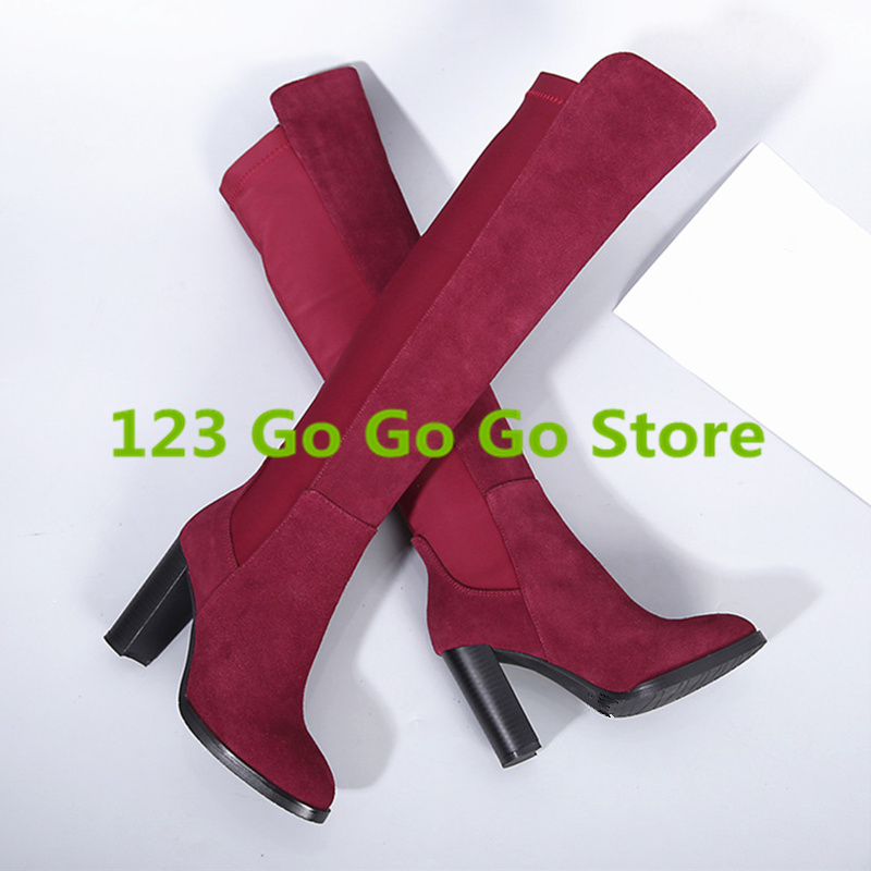 Sexy High Heel Women Boots Round Toe Luxury Brand Women Shoes Super Star Runway Stage Shoes Thigh High Boots Kid Suede Knee Boot эналаприл тева 10мг 20 таблетки