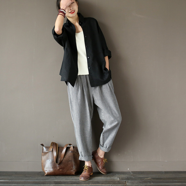 Linen Stripe Pants Promotion-Shop for Promotional Linen Stripe ...