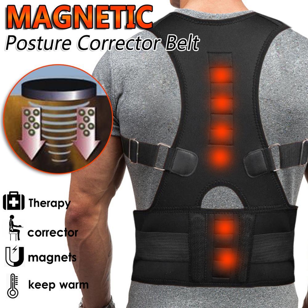 10 Magnets Magnetic Posture Corrector Belt for Women Men Back Therapy Braces Shoulder Spine Back Support Belt Plus Size