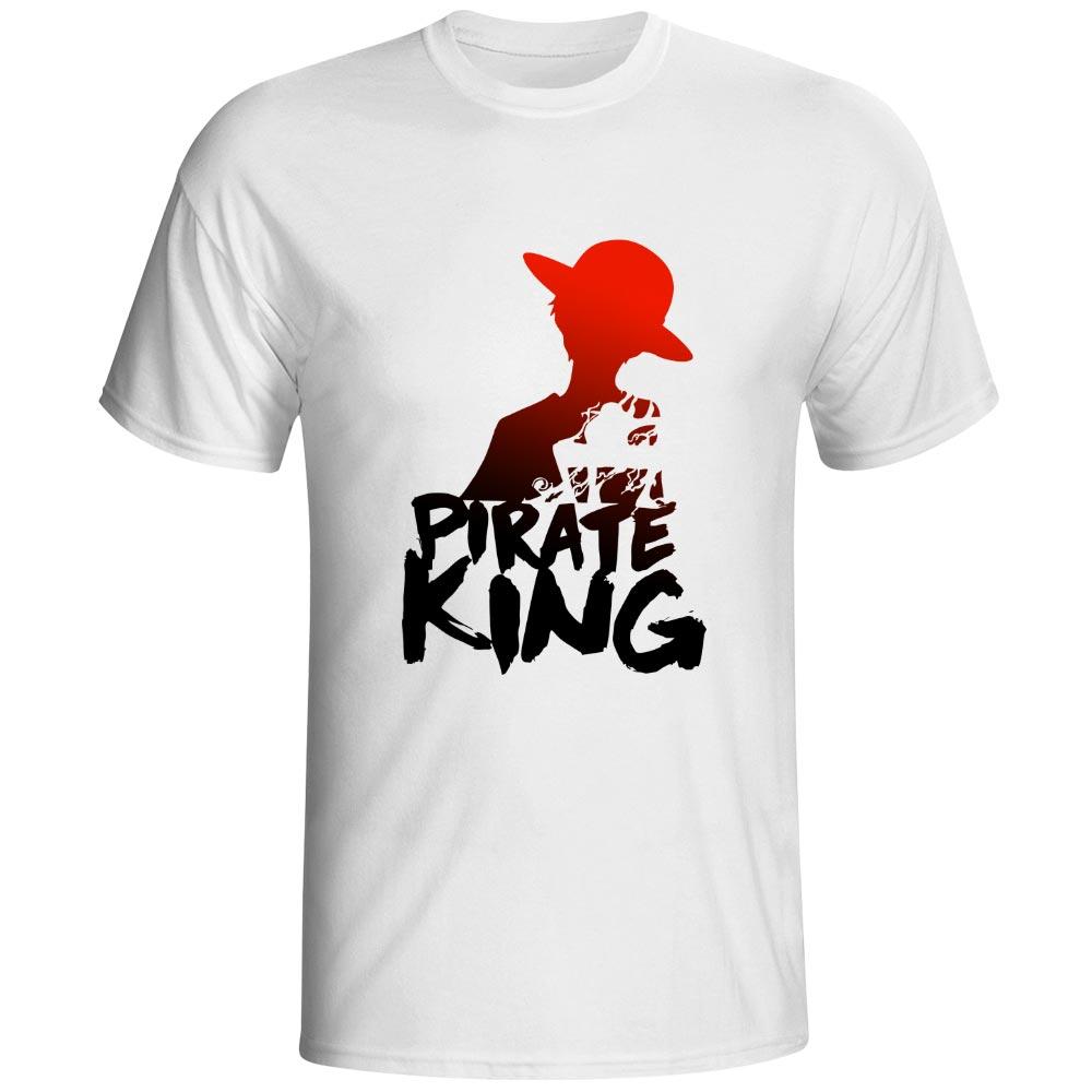 القراصنة الملك القرد d لوفي t-shirt - ملابس رجالية