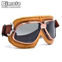 5 цветов Медь покрытием Рамка Винтаж Harley очки Очки для открытого Для лица шлем ретро мотоцикл половина шлем очки
