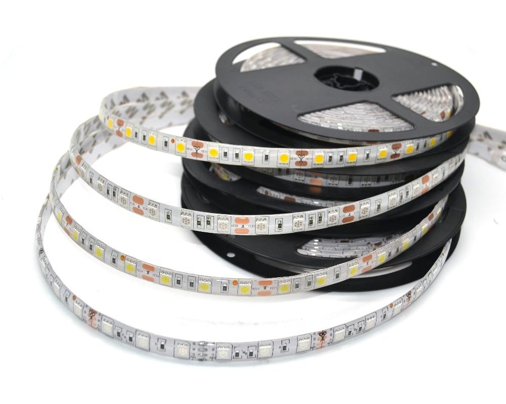 LED-csík 5050 DC 12V rugalmas LED-es LED 60 LED / m 5m / tétel RGB - LED Világítás - Fénykép 2