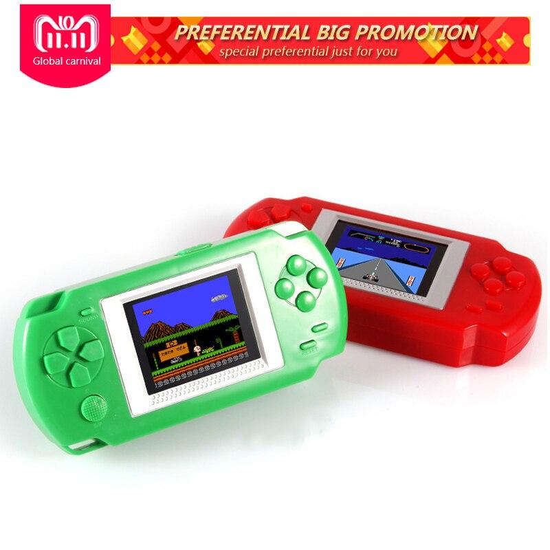 Ultra-Fino Portátil 2.0 ''tela Colorida de Consolas de Jogos de Vídeo 268-em-1 Jogos Handheld Do Jogo Clássico jogador para crianças Jogos de Puzzle