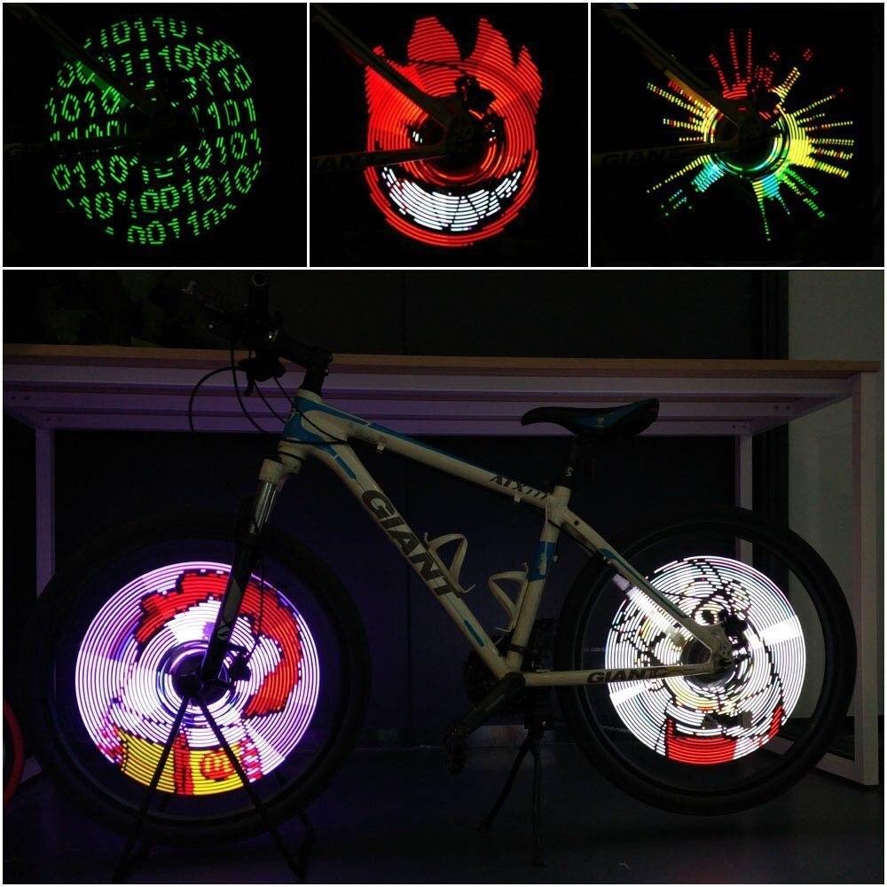 A Pair Rechargeable MTB Cycling Bike Light LEDs Bicycle Hub Light Colorful Intelligent Smart Bike Wheel Spoke DIY Light Lamp west biking bike chain wheel 39 53t bicycle crank 170 175mm fit speed 9 mtb road bike cycling bicycle crank