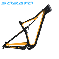 2018 carbon mountain bike suspension frame 29er Enduro mtb bicycle frameset