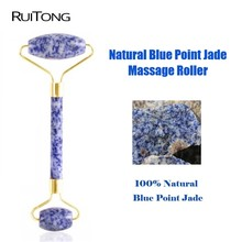 10Pcs/lot Natural Blue Point Jade Facial Massage Roller Slimming Face Massager Lifting Tool Natural Jade Massage Tools Wholesale byriver factory wholesale therapy center jade massage bed reflax shiatsu full body massager equipment 5 4 jade roller
