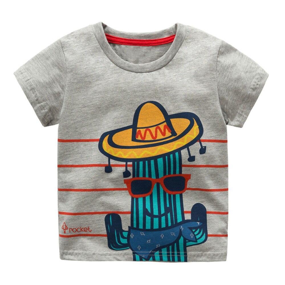 Littlemandy Boys T Shirt Baby Topy Letnie ubrania 2018 Dinosaur - Ubrania dziecięce - Zdjęcie 3
