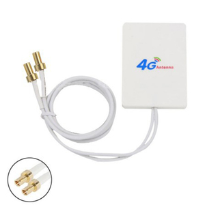 Image 5 - Double White SMA Signal Amplifier Network External Cable Broadband Aerial Vertical WIFI TS 9 Connector LTE Antenna 28DBI 4G 3G
