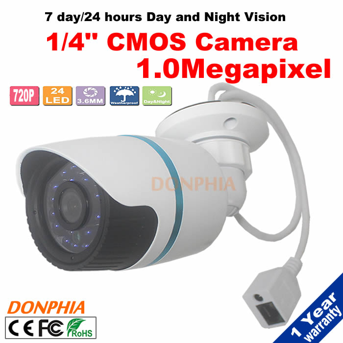 ФОТО 1.0 MegaPixel 720P HD-IP Camera wired Weatherproof Outdoor Network ONVIF Security Surveillance IR Cut Camera Night Vision Bullet